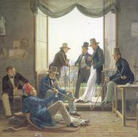 Constantin Hansen - A Group of Danish Artists in Rome 1837