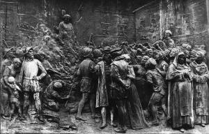 Der Brand von Giordano Bruno 1600.