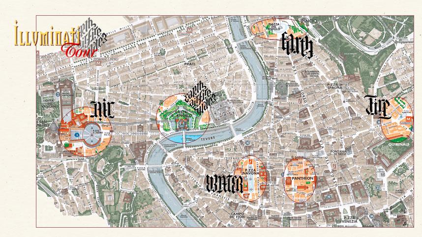 City Tour Rome Map